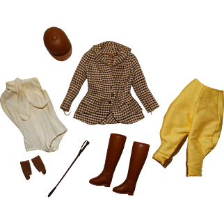 Vintage Barbie Complete Riding In The Park Outfit
