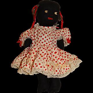 "Pre 1950s Stuffed 14"" Golliwog Doll"
