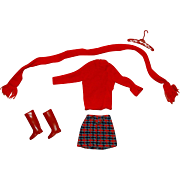 Vintage Barbie Complete Super Scarf Outfit