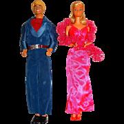 Vintage 1977 Superstar Ken & Barbie Dolls