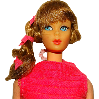 Vintage Brownette Side Ponytail Talking Barbie w/Original Hair Set