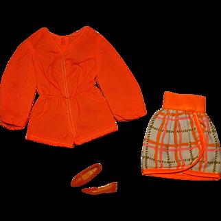 Vintage Barbie Complete Tangerine Scene Outfit