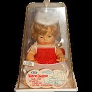 """Ideal Vintage 9"""" Tearie Dearie Doll w/High Chair Box"""