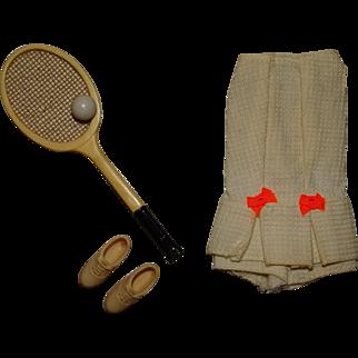 Vintage Barbie Complete Tennis Team Outfit