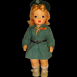 """Vintage Hard Plastic Blonde 16"""" Terri Lee Girl Scout Doll"""