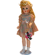 "Ideal Vintage 1950s Blonde 19"" Toni Walker Doll w/Wrist Tag"