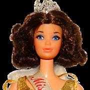 Vintage Brunette Walk Lively Miss America Doll