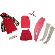 Vintage Barbie Complete Wild & Wintry Outfit