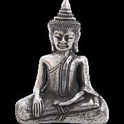 Silver Tibetan Buddha Statue Sakyamuni 950 silver