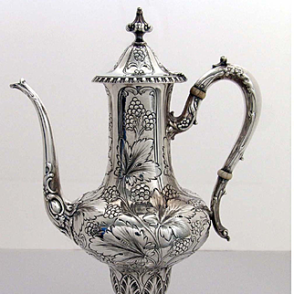Victorian Sterling Silver Chocolate Pot / Tea Pot