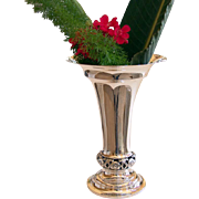 """Victorian Sterling Silver Vase CLassic Elegance 9 1/2"""" tall By Towle"""