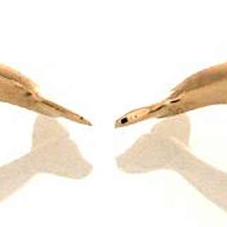 Estate 14k Gold Dolphin Cufflinks