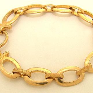 Estate .999 Gold Bracelet Oval Link