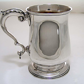 1778 English George III Sterling Silver Tankard