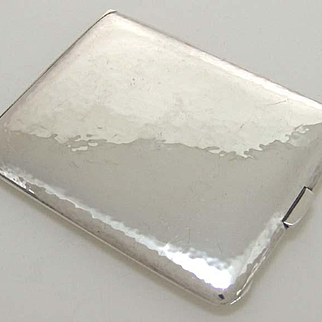 Tiffany & Co. Arts And Crafts Hand Hammered Sterling Silver cigarette case