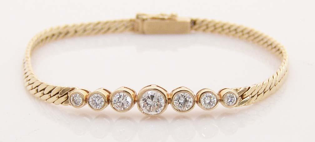 Vintage Diamond Bracelet 87ct 14k Gold Macintyre Estate Er Ruby Lane