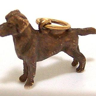Estate 14kt Gold Chocolate Labrador Charm