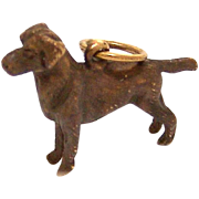 Estate 14kt Gold Chocolate Labrador Charm