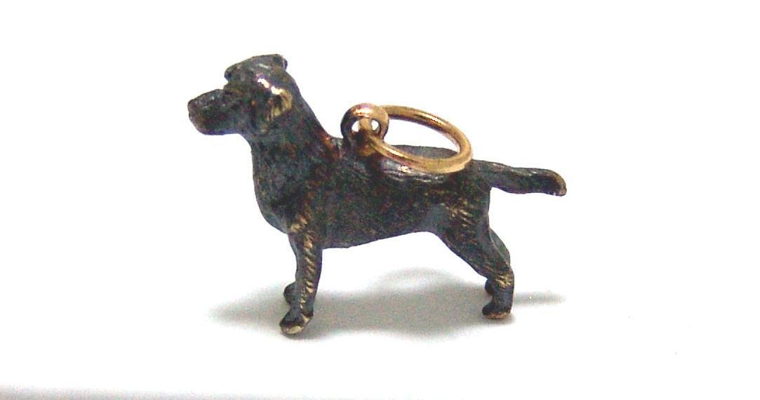 Estate 14kt Gold Black Labrador Charm