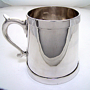 Antique Rare Large American Made Sterling Silver Tankard 1 Quart 32 oz.