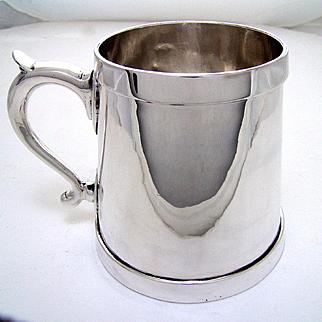 Antique Rare Large American Made Sterling Silver Tankard 1 Quart 32 oz.