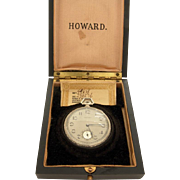 E. Howard Watch Co. Boston 14k White Gold Box & Paper Mint