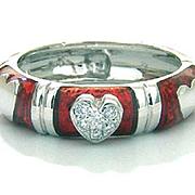 Hidalgo 18k Heart & Diamonds Ring