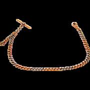Antique Tiffany & Co. 18kt Rose Gold & Platinum Pocket Watch Chain