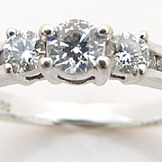 Estate Diamond Ring .50 ct. t.w. 14kt White Gold