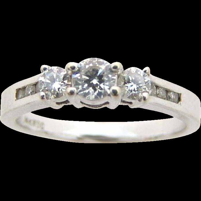 Estate Diamond Ring .50 ct. t.w. 14kt White Gold
