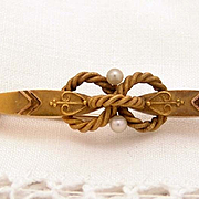Victorian Gold and Pearl Pin