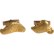 Natural Gold Nugget Cufflinks 35 grams Large Custom Made