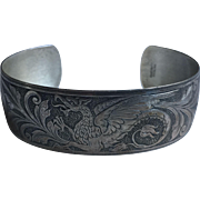 Danecraft Sterling Dragon Cuff bracelet