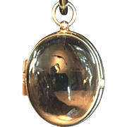 Vintage rock crystal Pools of Light egg shaped locket
