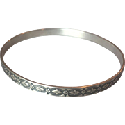 Danecraft  Felch medallion Bangle Sterling Silver