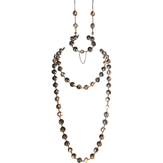 Pools of Light, silver repousse wrapped set. Necklaces, bracelet and double earrings. 81 orbs and all strands combined 63""