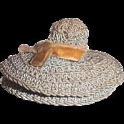 Shaker blue crocheted hat pin cushion