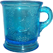 Early american pattern glass child's mug..Authentic  c.1900