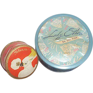 Face powder boxes for women from the 20's and 30's.