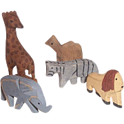 This is a set of 5 nicely carved wooden animals