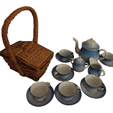 Doll's Woven Picnic or Lunch Basket