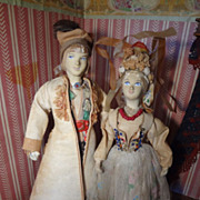 SALE Polish  Bridal Couple Dressed in Regional Attire