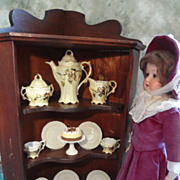 SALE  Miniature Corner Cabinet for Doll Display - Red Tag Sale Item