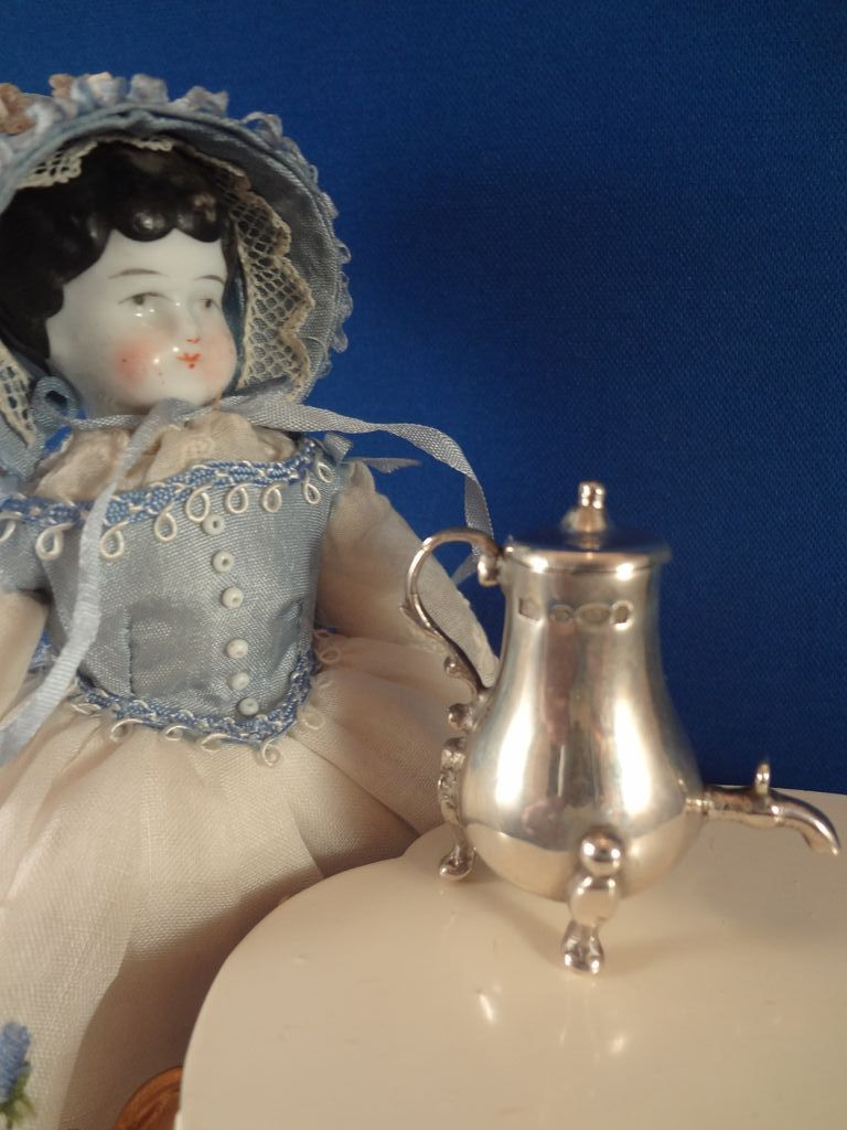 Miniature Sterling Coffee Pot With Hallmarks