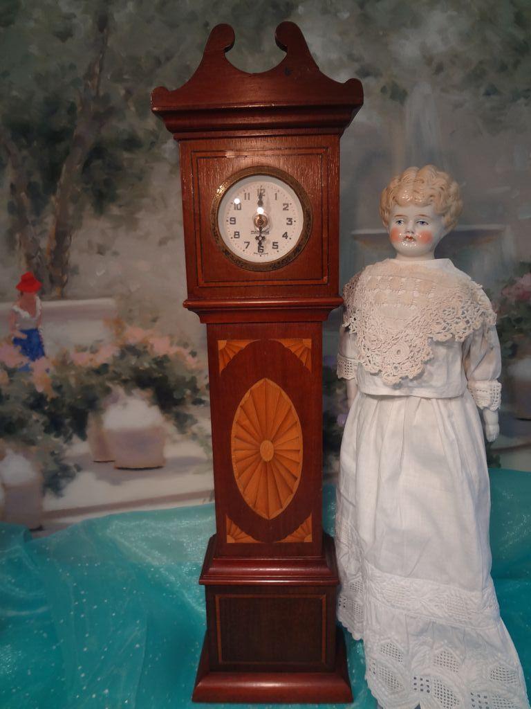 Miniature German Broken Arch Tall Case Clock