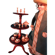 SALE Miniature Mahogany Dumb Waiter Revolving LAYAWAY AVAILABLE