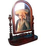 REDUCED  Miniature Dressing Mirror for Doll Display