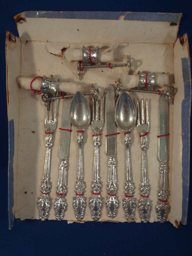 German Soft Metal Flatware in Original Box