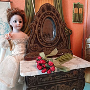 Doll House Boule Dressing Table Marble Top