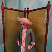 Two Part Faux Bamboo Doll Screen - Red Tag Sale Item